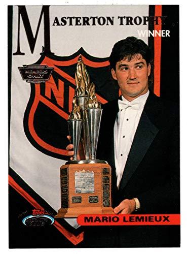 Mario Lemieux - Masterton Trophy (Hockey Card) 1993-94 Topps Stadium Club # 146 Mint