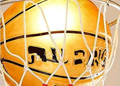 Creative Basketball Type Pendant Light Energy-saving Eye Protection Chandeliers Children's Room Study Kindergarten Pendant Lamp,220V(warm light?