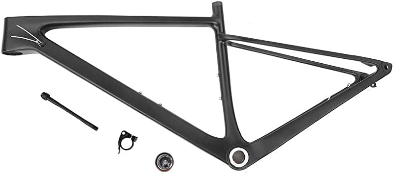 Marco de Bicicleta, Fibra de Carbono Unisex Bicicleta Tenedor ...