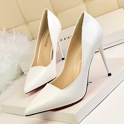 Yukun Spring heels White Shoes Pink Gun Single And Temperament Shoes Shoes Female 39 Stiletto Color Autumn High Pointed Heels Nightclub xrrqI4H