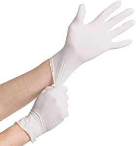 Noble Products Powder-Free Disposable Latex Gloves for Foodservice Box of 100 (Latex Medium)