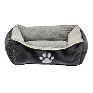 "Dallas Manufacturing Co. 25"" Textured Box Dog Bed Grey"