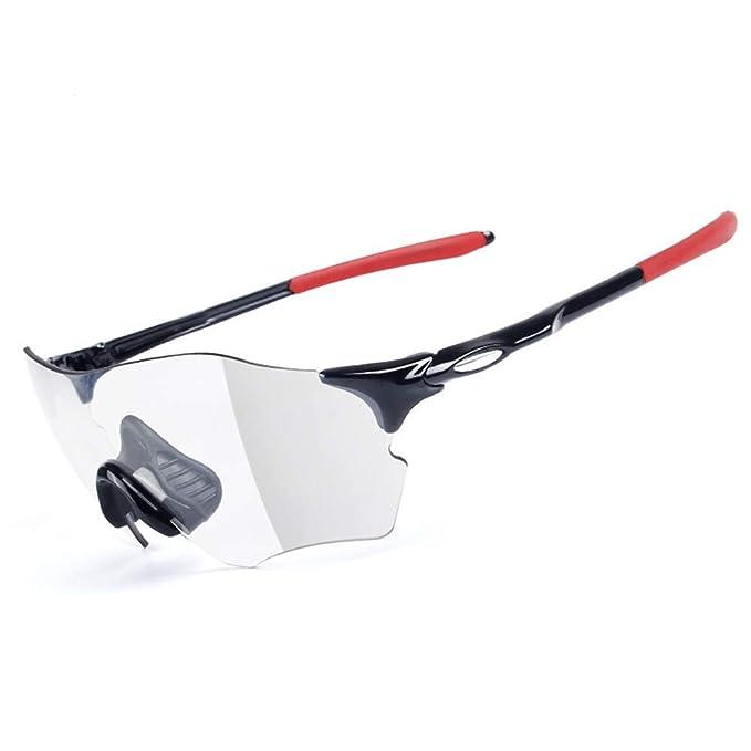 7c68ce0cb3 Amazon.com  Yzibei Color Sunglasses Color Polarized Sunglasses Men Color  Cycling Glasses Sports Sunglasses Transparent Colorless  Home   Kitchen