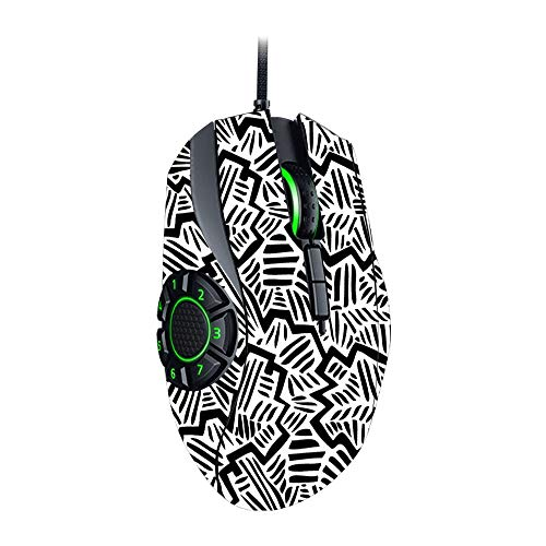 MightySkins Skin for Razer Naga Hex V2 Gaming Mouse - Abstract Black   Protective, Durable, and Unique Vinyl Decal wrap Cover   Easy to Apply, Remove, and Change Styles   Made in The USA