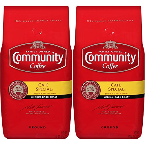 - Community Coffee Café Special Medium Dark Roast Premium Ground 32 Oz Bag (2 Pack), Full Body Rich Flavorful Taste, 100% Select Arabica Coffee Beans