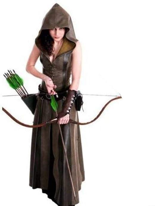 YyiHan Cosplay Disfraz, Medieval Ranger Femenina Traje de Robin ...