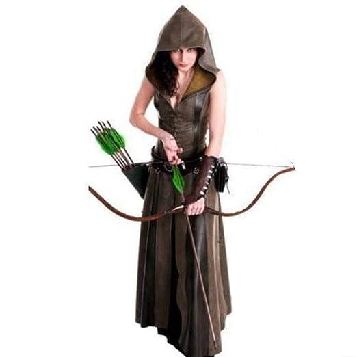 YyiHan Cosplay Disfraz, Medieval Ranger Femenina Traje de ...