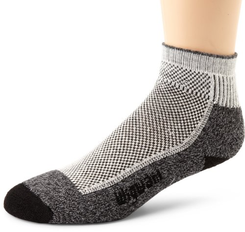 Wigwam Men's Cool-Lite Hiker Pro Quarter Socks, Black, Sock Size:10-13/Shoe Size: ()