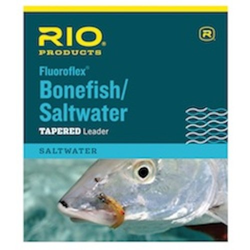 (RIO Fly Fishing Leaders Fluoroflex Saltwater Leader 9Ft 12Lb Fishing Line, Clear)