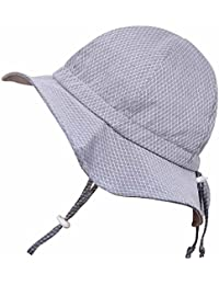 Toddler Sun Hat with Chin Strap, Drawstring Adjust Head...