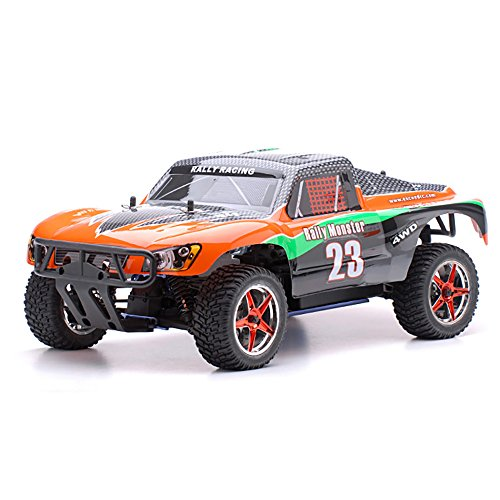 1/10 2.4Ghz Exceed RC Rally Monster Nitro Gas Powered RTR Off Road Rally Car 4WD Truck Carbon (Gas Rc Car Engine)