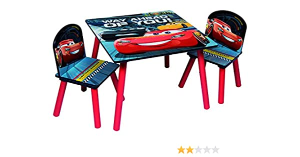 Disney, Cars 3 85873-s – Juego de Mesa + 2 sillas, MDF, Rojo/Gris, Talla única: Amazon.es: Hogar