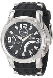 Lancaster Men's OLA0551SS-NR-NR Black Dial Black Silicone Watch