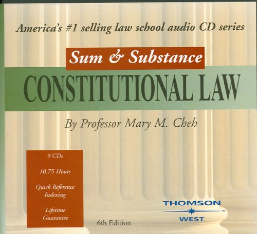 Sum & Substance Audio on Constitutional Law by West