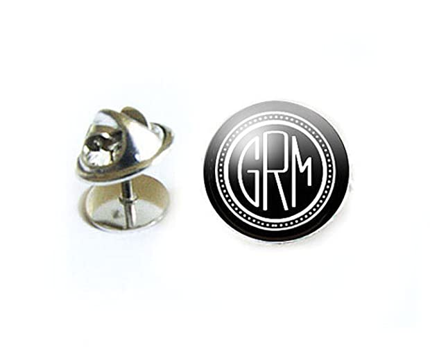Brand new Amazon.com: Monogram Tie Tack, Personalized Tie Pin: Handmade ZU42