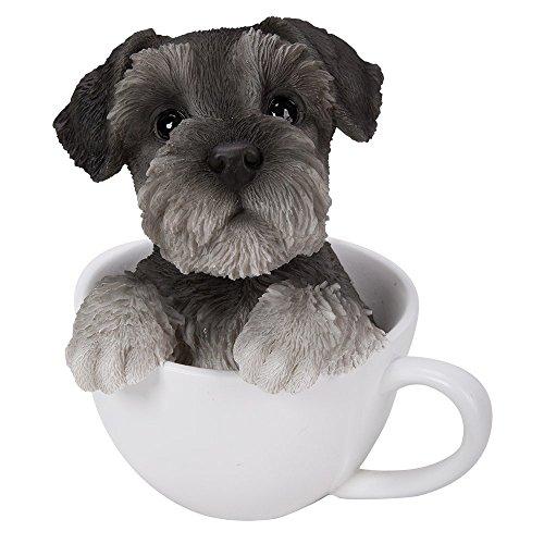 Schnauzer Puppies (Adorable Teacup Pet Pals Puppy Collectible Figurine 5.75 Inches (Schnauzer))