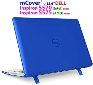 """mCover Hard Shell Case for 15.6"""" Dell Inspiron 15 5570 (Intel) / 5575 (AMD) Laptop (NOT Compatible with Other Dell Inspiron 5000 Series Models) Laptop (Blue)"""