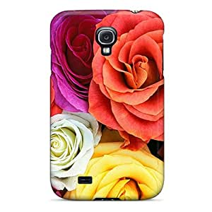 Ajephke Premium Protective Hard Case For Galaxy S4- Nice Design - Roses
