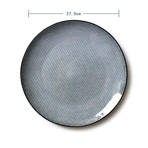 FGSLW Salad Plate, Nordic Round 10 Inch Ceramic Tableware, Western Restaurant Steak Plate, Hotel Dessert Plate, Fruit Plate, Home Breakfast Plate (Color : 27.5cm, Size : Set of 4)