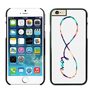 Iphone 6 Case 4.7 Inches, Top Black Hard Phone Cover Case for Apple Iphone 6 Infinity Love