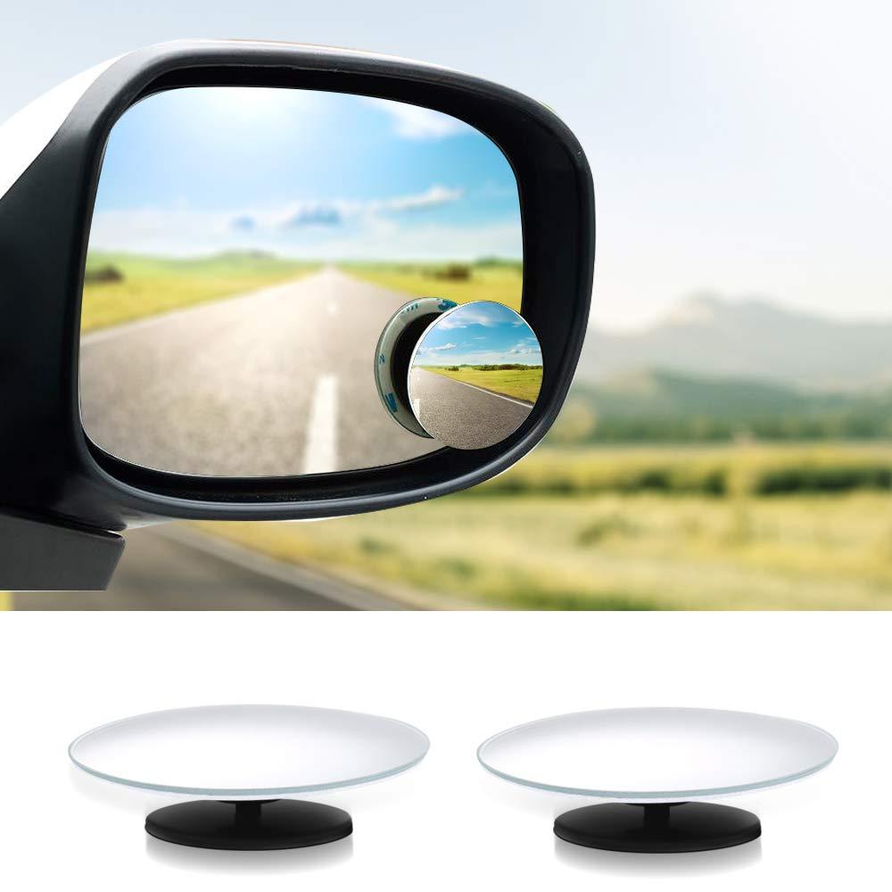 Surepp 2 Pcs Circular Blind Spot Mirrors-Waterproof 360/°Rotatable Convex Rear View Mirror For Universal Cars