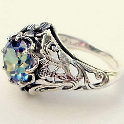 Crookston 925 Silver Aquamarine Gemstone Ring Jewelry Women Wedding Party Gift Size 6-10   Model RNG - 15145   7
