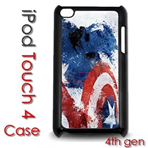 IPod Touch 4 4th gen Touch Plastic Case - Captain America Super Hero by lolosakes