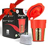 4 1 2 diamond cup - SwiftBrew 24k Gold Reusable K-Carafe Filter- K-Cup Reusable 4-5 Cup Coffee Filter Compatible With Keurig Brewers 2.0 - For K200, K300, K400, K500 With Bonus Keurig Water Filter