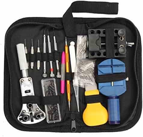 Watch Repair Tool Kit,Baban 144 Pcs Case Opener Spring Bar Tool Set