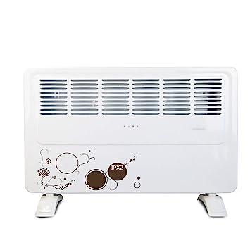 Calentador de sala de baño impermeable, 2000W de pared y estufa de aire caliente móvil de doble uso, secador multiuso con tendedero blanco: Amazon.es: Hogar