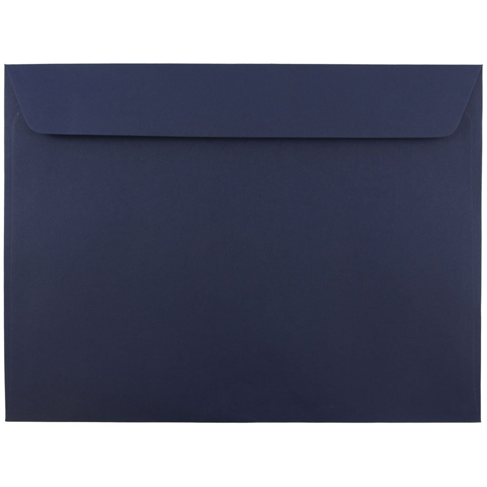 JAM PAPER 9 x 12 Booklet Premium Envelopes - Navy Blue - 50/Pack by JAM Paper