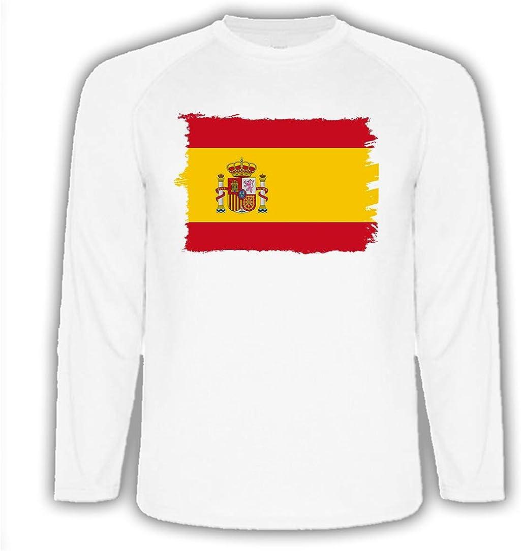 Camiseta Manga Larga Bandera ESPAÑA Pais CONSTITUCION Tshirt ...