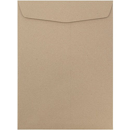 JAM PAPER 10 x 13 Open End Catalog Premium Envelopes - Brown Kraft Paper Bag - - Catalog Brown End Open Kraft