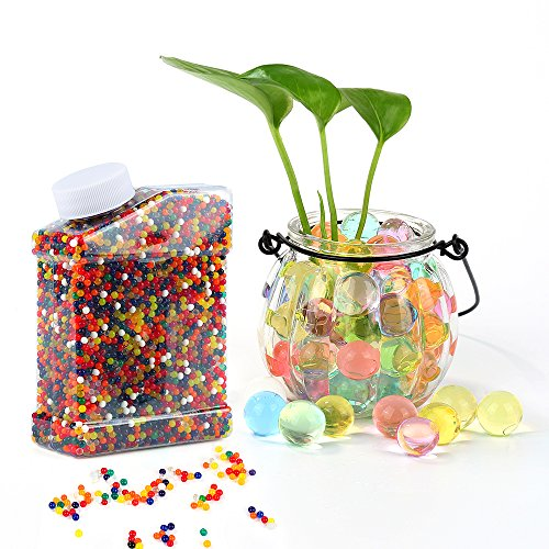 Water Beads,Environmental Absorbent Polymer Jelly Water Growing Balls for Kids Tactile Sensory Toys, Vases, Plants, Wedding and Home Decoration Rainbow Mix 35000 Pieces by WEfun