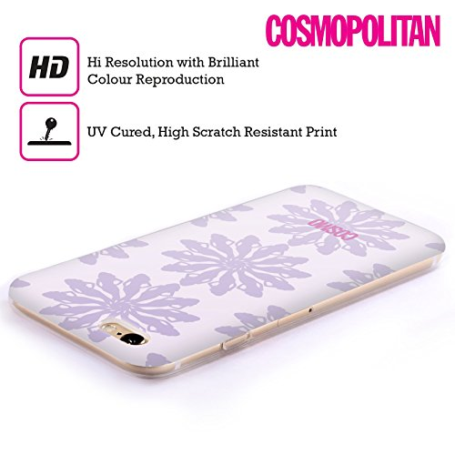 Official Cosmopolitan Violet Floral Patterns Soft Gel Case for Apple iPhone 6 / 6s