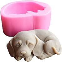 3d cachorro Pug silicona vela moldes resina arcilla