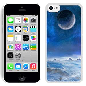 New Beautiful Custom Designed Cover Case For iPhone 5C With Winter Moon (2) Phone Case