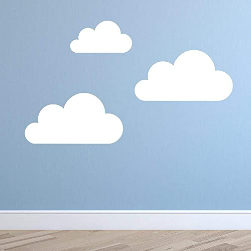 Set of 3 Super Size Clouds Wall Decal - Nursery Wall Decal - Childs ...