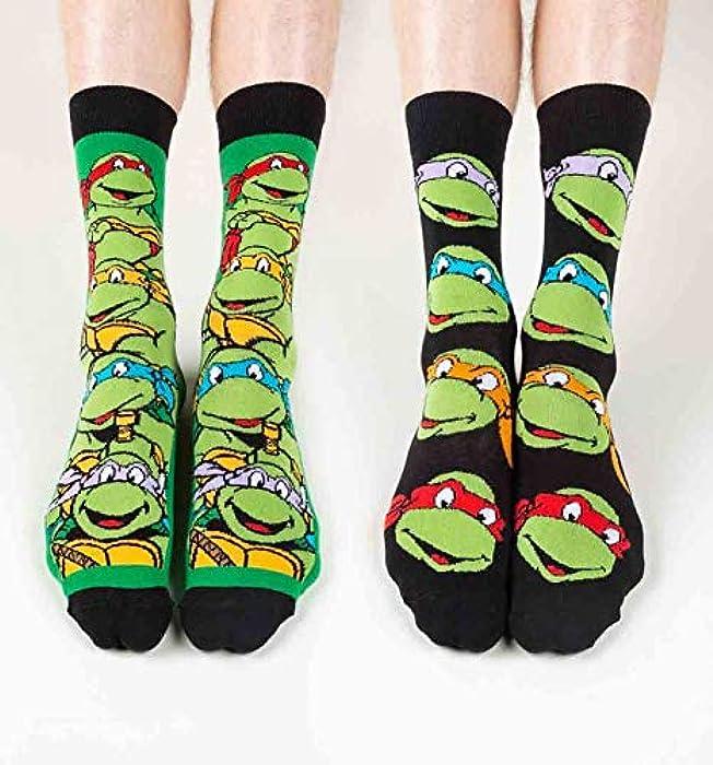 d9d2d92c775 Mens 2 Pack Teenage Mutant Ninja Turtles Socks at Amazon Men s ...