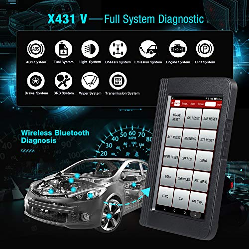 LAUNCH X431 V (Same Function with X431 V+) Bi-Directional Bluetooth Scan Tool Full System OBD2 Diagnostic Scanner with ECU Coding,Key Fob Programming, TPMS Reset, IMMO, SAS, DPF, EPB, ABS Bleeding by LAUNCH (Image #1)