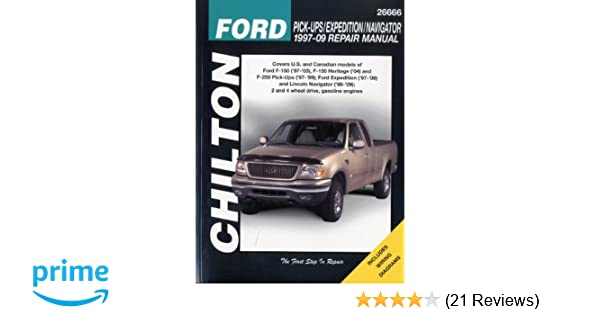 Ford pick upsexpedition and lincoln navigator 1997 2009 chiltons ford pick upsexpedition and lincoln navigator 1997 2009 chiltons total car care repair manual chilton 9781563927928 amazon books fandeluxe