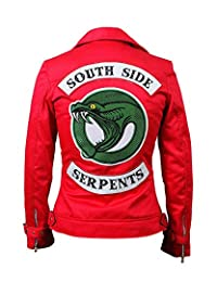 Leather Estate Cordura Jacket - Women Southside Serpents Cheryl Blossom Red Cordura Jacket