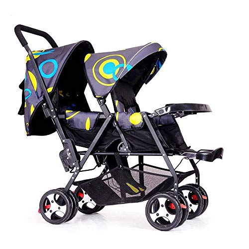Foldable Double Stroller Baby Infant Pushchair Carriage Doub