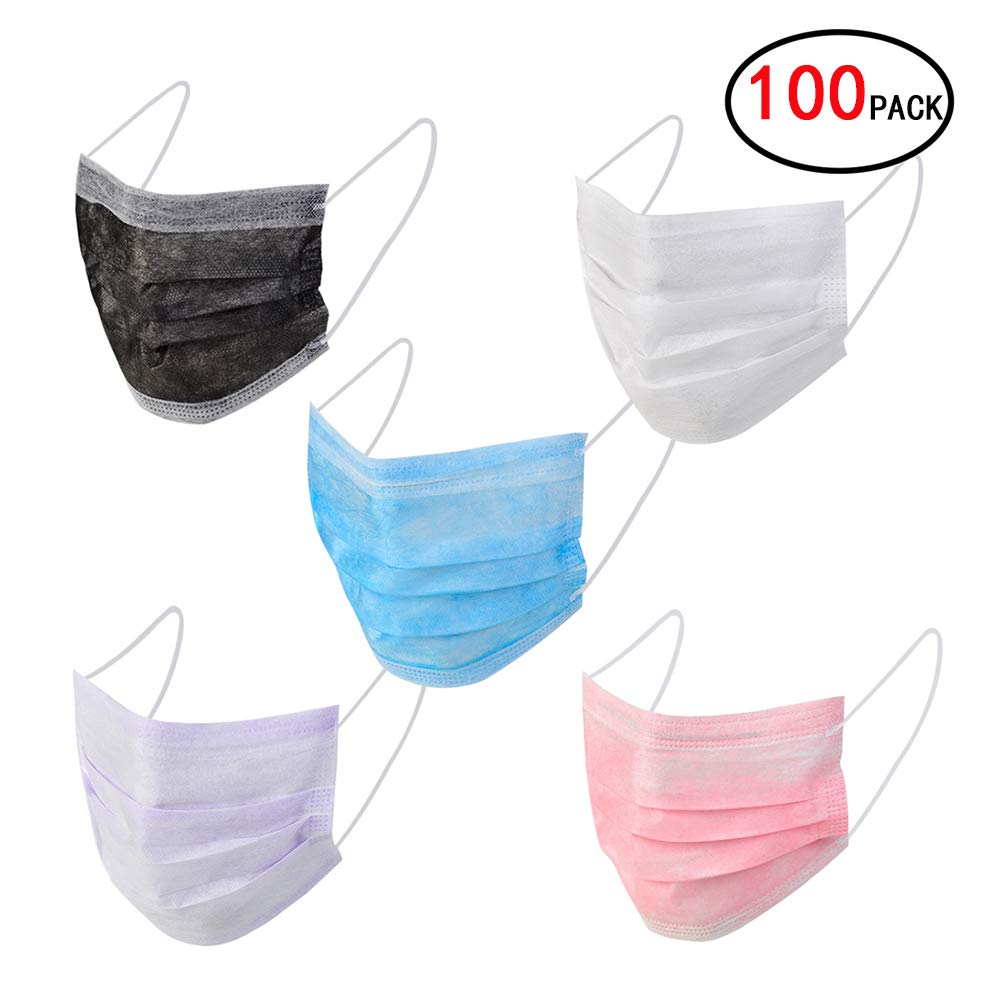 Maschere antigas Bryhair Maschere monouso facciale per filtro polvere e batteri per proteggere l'apparato respiratorio 100 pezzi