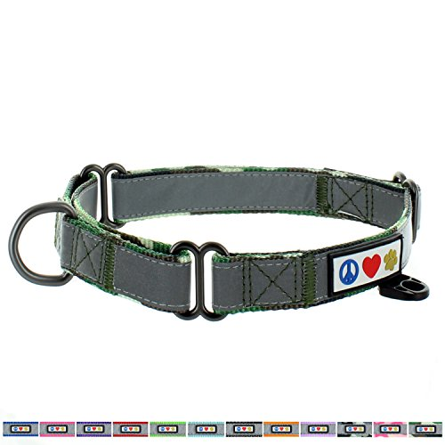Pawtitas Martingale Dog Collar Puppy Collar Reflective Dog Collar Training Dog Collar Behavioral Dog Collar Large Dog Collar Camouflage Green Dog Collar