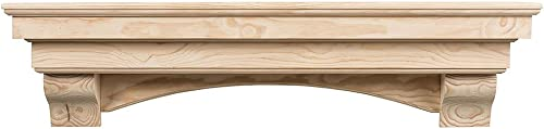 Salem 48″ Unfinished Fireplace Mantel Shelf