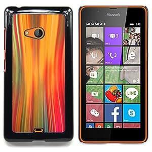 /Skull Market/ - Lights Warp Speed Motion Orange For Microsoft Nokia Lumia 540 N540 - Mano cubierta de la caja pintada de encargo de lujo -