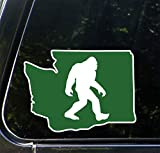 "Washington Sasquatch - Bigfoot - Washington State - Peel and Stick Decal Sticker - Copyright 2016 Yadda-Yadda Design Co. [5""w x 3.75""h]"