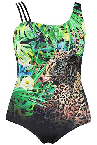 Ulla Grandes Femme Jungle Tailles Imprimé Maillot Multicolore 720575 Popken De Bain rU6qSxr