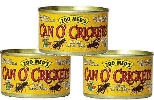 Zoo Med Laboratories Can O Crickets Pet Food, 1.2 Ounce Each (3 Pack)